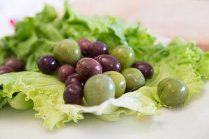 olive verdi di Nocellara e olive nere di Gaeta